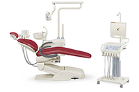 HY-E60 Dental Unit, Mobile Cart Version (integrated dental chair, LED light)