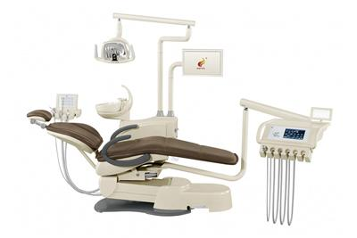 HY-E60 Dental Unit, Deluxe Version (integrated dental chair, multiple operating units, LED light)